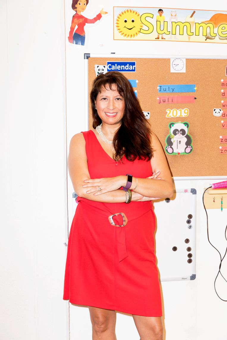 Joy Otto, director at Winford Bilingual Primary School Beeld Marie Wanders