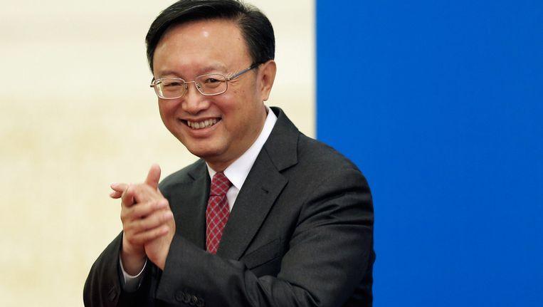 Yang Jiechi, de Chinese minister van Buitenlandse Zaken Beeld null