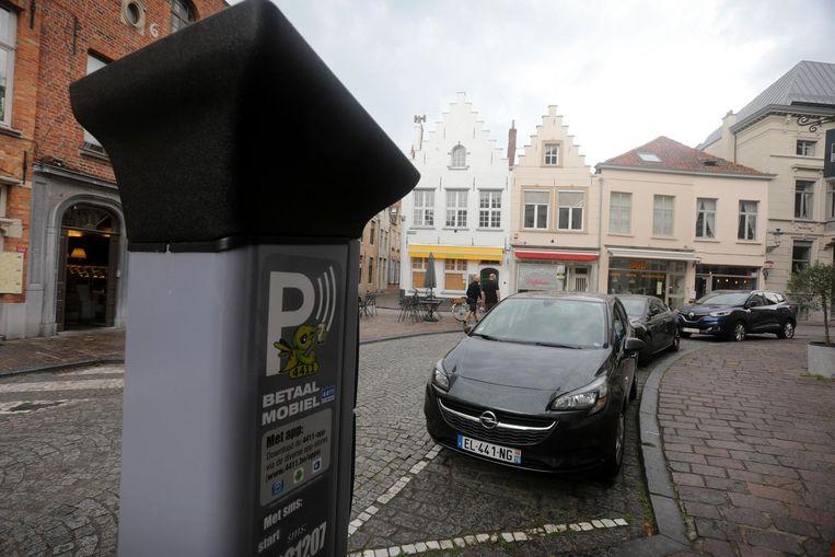 De parkeermeter in de Philipstockstraat.