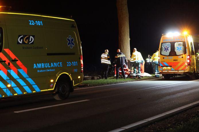 Het ongeval op de Schijndelseweg in Sint-Oedenrode, waarbij een 41-jarige Schijndelaar om het leven kwam.
