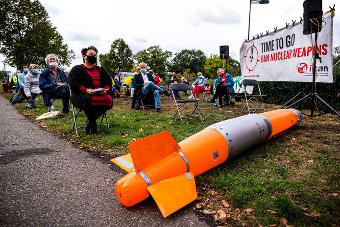 In september vorig jaar werd bij de vliegbasis Volkel ook al geprotesteerd tegen kernwapens.