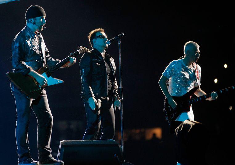 U2 treedt op in Mexico City. Beeld reuters