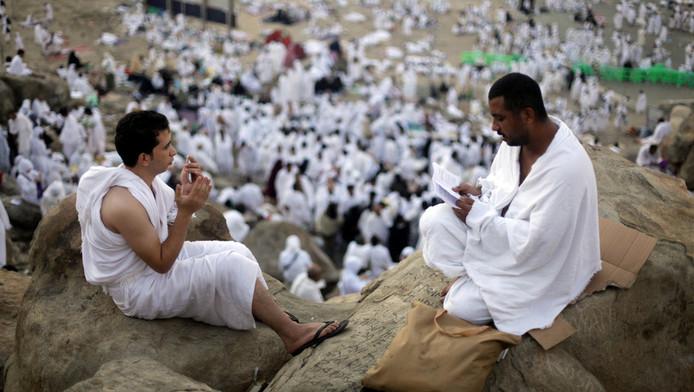 Moslims tijdens de hadj