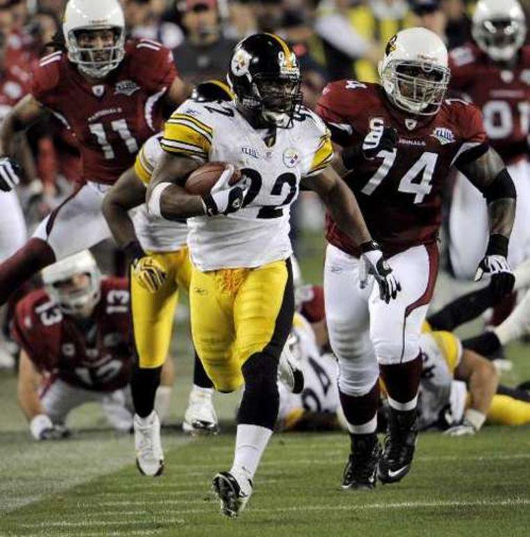 James Harrison zorgde voor een touchdown na de langste run ooit in een Super Bowl. Beeld UNKNOWN