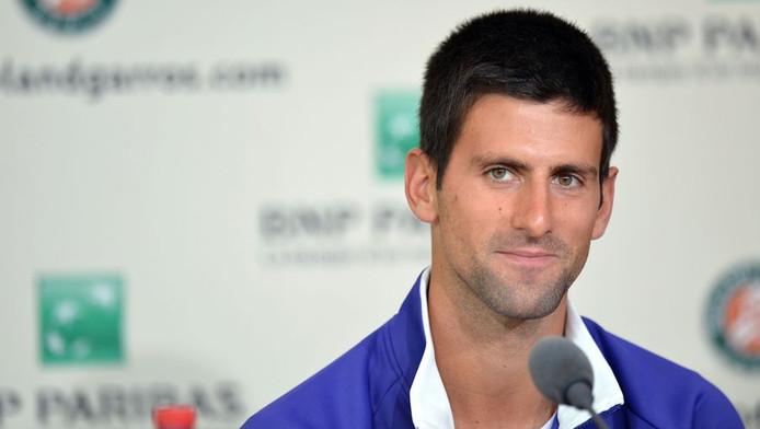 Novak Djokovic, als eerste geplaatst in Parijs.