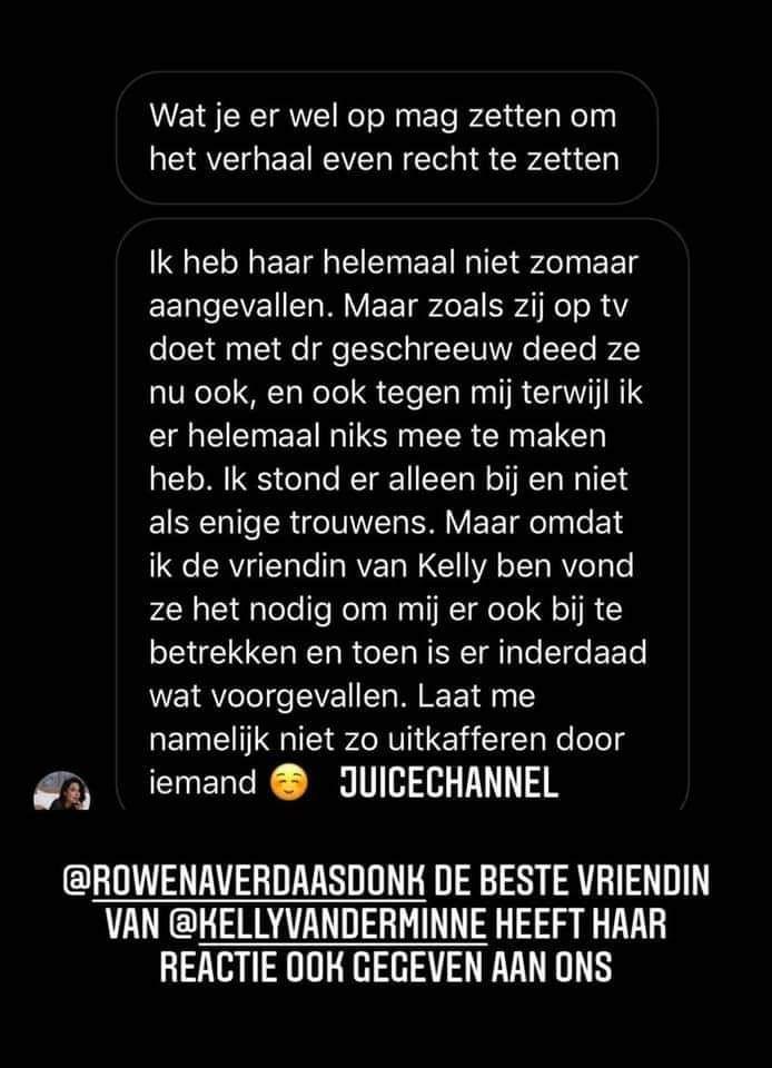 Instagramaccount Juicechannel legt de ruzie tussen Isidora, Kely en Rowèna bloot.