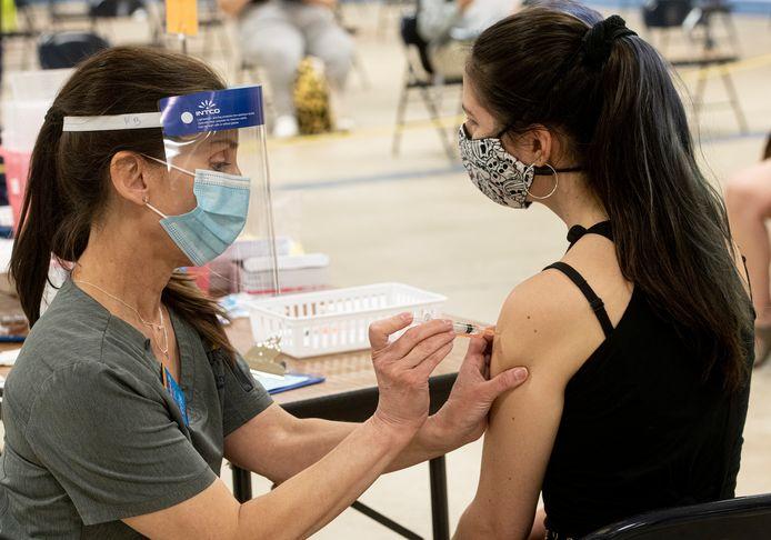 Vaccination anti-Covid dans l'Ohio, en avril