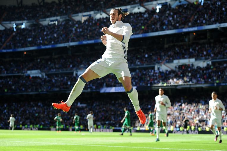 Bale was de grote uitblinker in Real Madrid-Leganés Beeld Getty Images