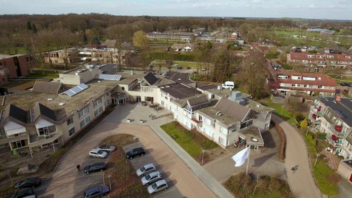 Woonzorgcentrum Norschoten vanuit de lucht