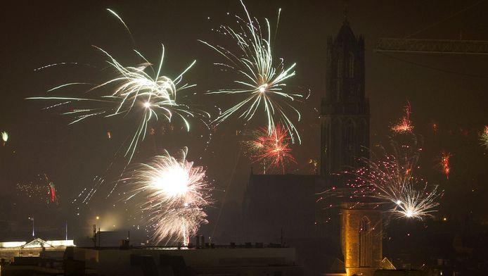 Vuurwerk boven Utrecht.
