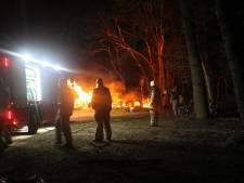 Afvalbrand in Dalfsen snel onder controle