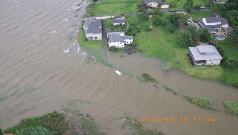 Ook in Texas waren overstromingen