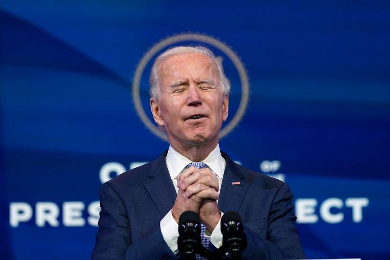 Joe Biden wordt de 46ste president van de Verenigde Staten.  Beeld AP