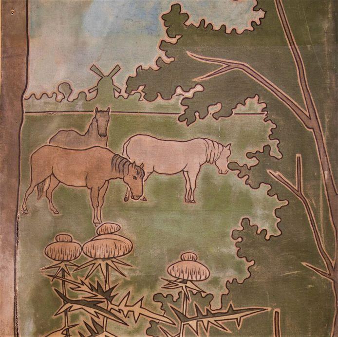 Op de 37 reclamepanelen die 121 jaar geleden in opdracht van Jacques van Marken werden gemaakt, stonden niet alleen aankondigingen voor producten van de fabriek Delfia. Daarnaast werden ook landschappen op de panelen geschilderd.
