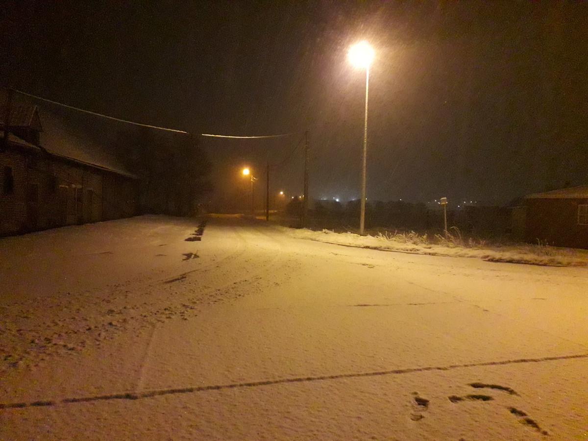 Boezinge lag deze morgen ondergesneeuwd.