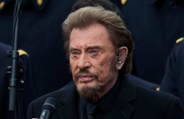 Johnny Hallyday in januari 2016.