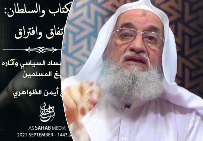 Montage van de nieuwe videoboodschap van Ayman Al-Zawahiri en de aankondiging van zijn boek dat vrijdag verscheen