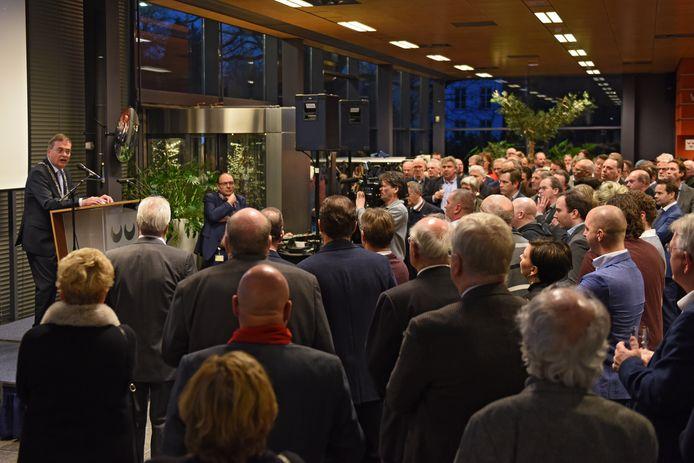 Burgemeester Stefan Huisman, kort geleden tijdens de nieuwjaarsreceptie van de gemeente Oosterhout in het stadskantoor aan het Slotjesveld.  Archieffoto BN DeStem