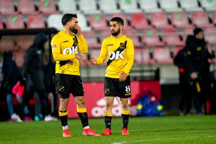Teleurstelling na de 1-1 tegen Jong Ajax