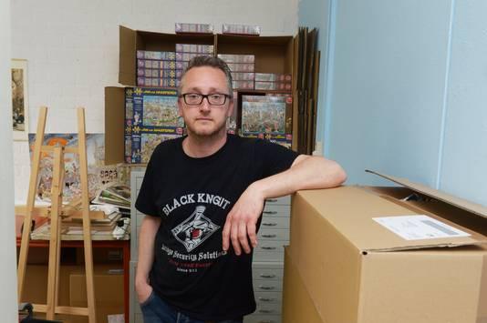 Tekenaar Rob Derks maakte eerder ook al legpuzzels over de Nijmeegse Vierdaagse en de bloedbank. Archieffoto