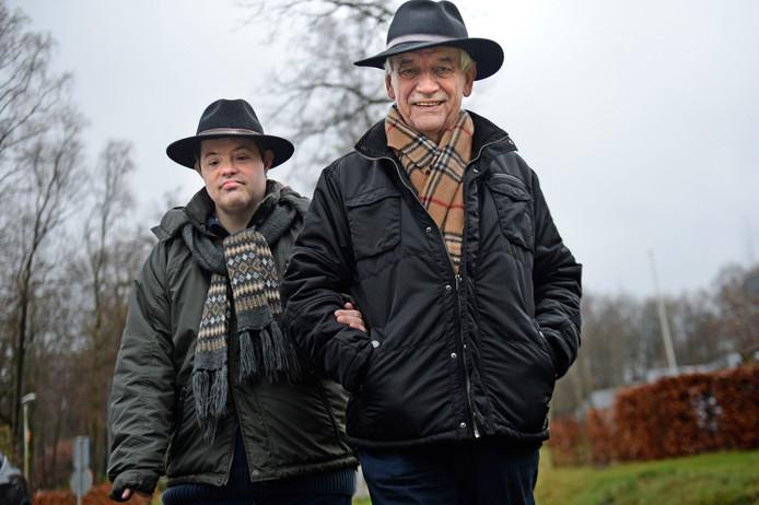 Jan Wegdam en zijn zoon Rogier