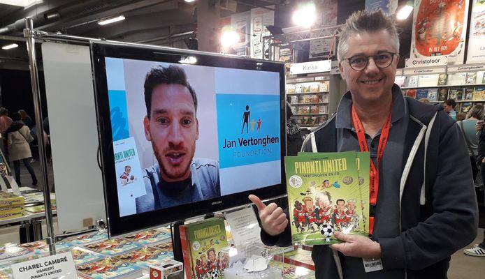 Herenthoutenaar Charel Cambré stelt op de boekenbeurs in Antwerpen zijn nieuwste stripalbum voor.