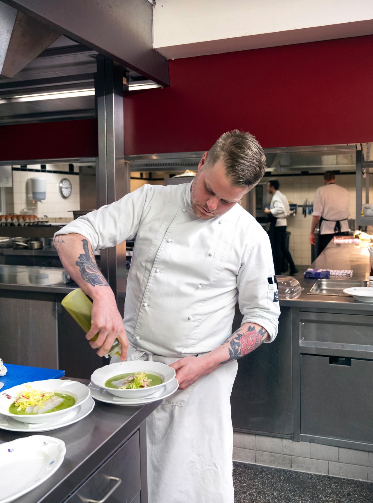 Laurens Hensen van Restaurant De Lage Vuursche. Beeld Els Zweerink