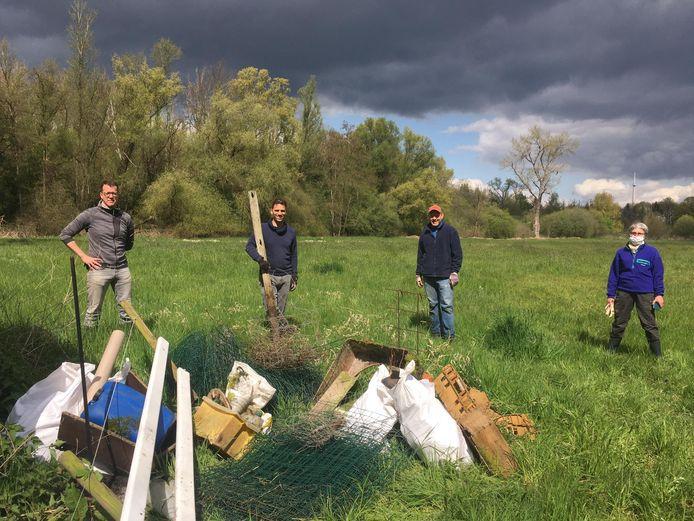 Het beheerteam voor Zennebeemden hield afgelopen weekend een eerste opruimactie.