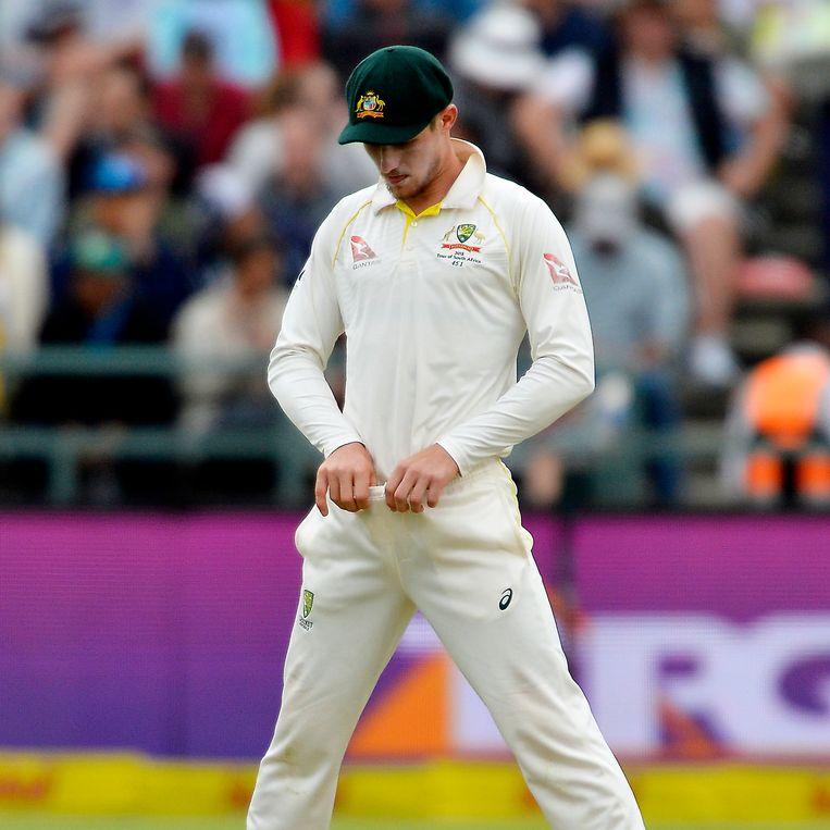 Maart 2018, Kaapstad: de Australische international Cameron Bancroft speelde een hoofdrol in het geniepige Ball Tampering- of Balknoei-schandaal.   Beeld Getty Images