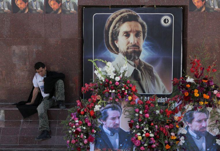 Massoud is een volksheld in Afghanistan. Beeld