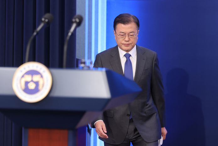 De Zuid-Koreaanse president Moon Jae-in.