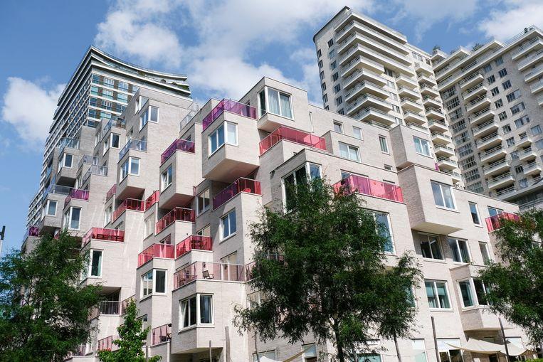 Een appartementencomplex aan de Zuidas in Amsterdam met middeldure vrijesectorhuurwoningen.  Beeld Kim van Dam, Hollandse Hoogte