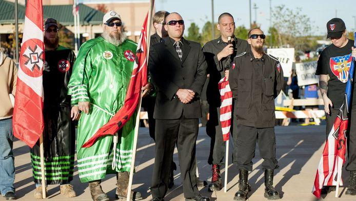Leden van de Ku Klux Klan in Texas.