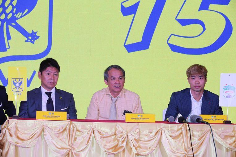 STVV trok voor de transfer naar Vietnam en organiseerde in Ho Chi Minh een persconferentie over de huurovereenkomst.