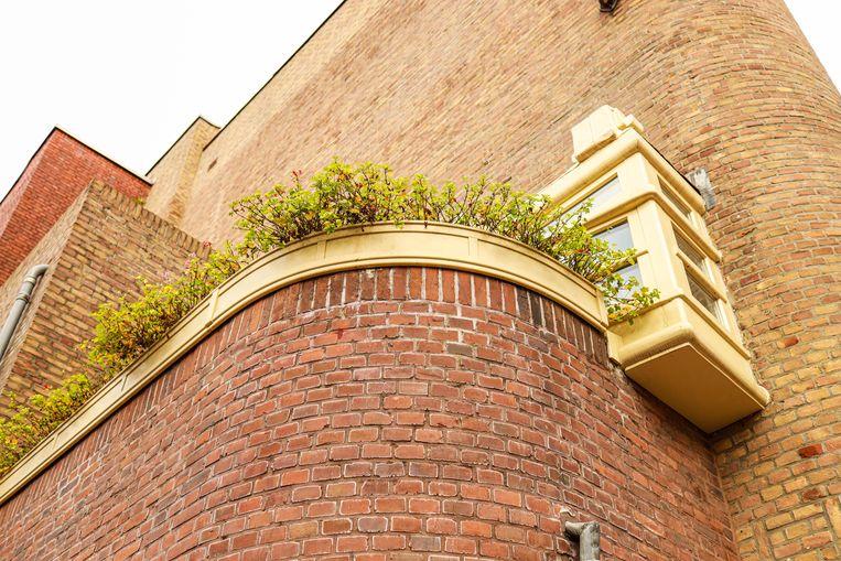 Op 2 januari stonden we op de hoek van de J.M. Coenenstraat en de Bartholomeus Ruloffsstraat. In het woonblok uit 1922-1923 heeft architect Jan Frederik Staal de Amsterdamse School knap vervlochten met de Nieuwe Zakelijkheid. Winnaar is Silvia Nannings. Beeld Anouk Hulsebosch