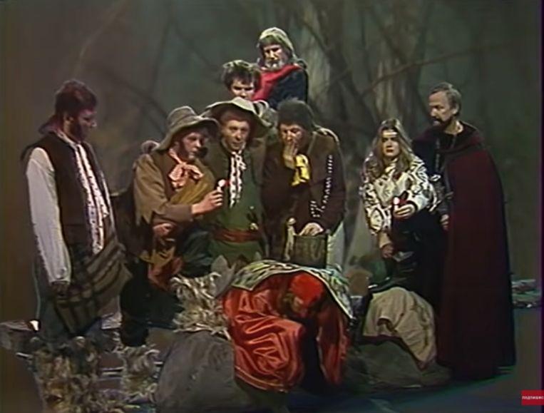 Een beeld uit 'Khraniteli', een adaptatie van 'The Lord of the Rings' uit 1991.  Beeld YouTube