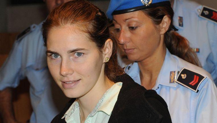 Amanda Knox tijdens het hoger beroep in Perugia, in 2011. Beeld epa