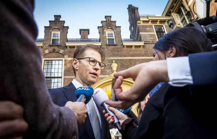 Sander Dekkerop het Binnenhof.