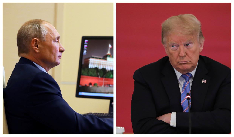 Vladimir Poetin en Donald Trump. Beeld Reuters