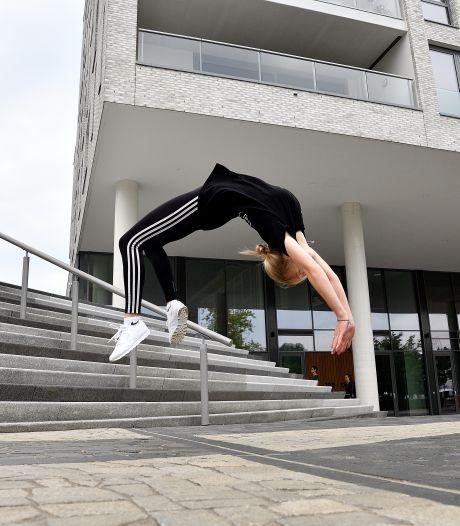 Voor freerunner Eline (18) is de hele stad een gymlokaal; ze sprong zichzelf naar het NK... en won