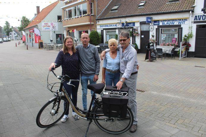 Nathalie, Lieven, Christiane en Dirk trekken in Lotenhulle voortaan aan één zeel.