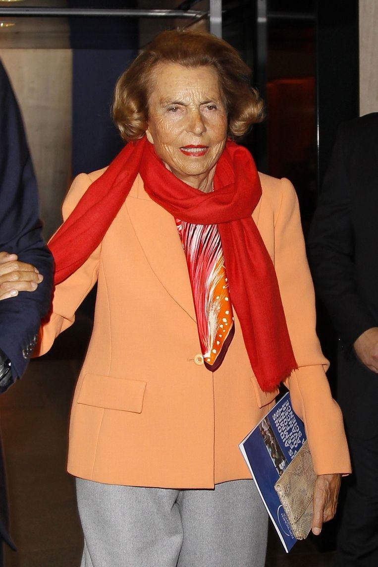 Liliane Bettencourt Beeld reuters