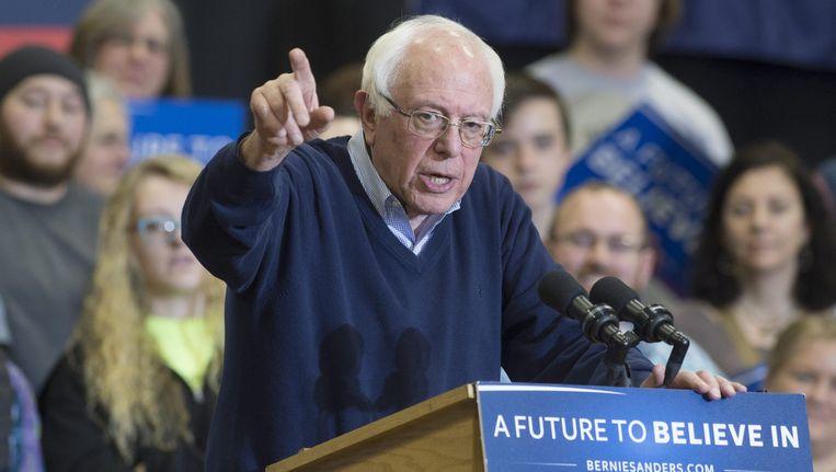 Bernie Sanders tijdens een evenement in de staat New Hampshire. Beeld epa
