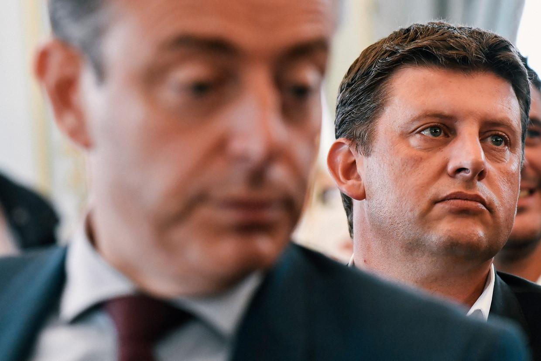 Bart De Wever (N-VA) en John Crombez (sp.a). Beeld BELGA