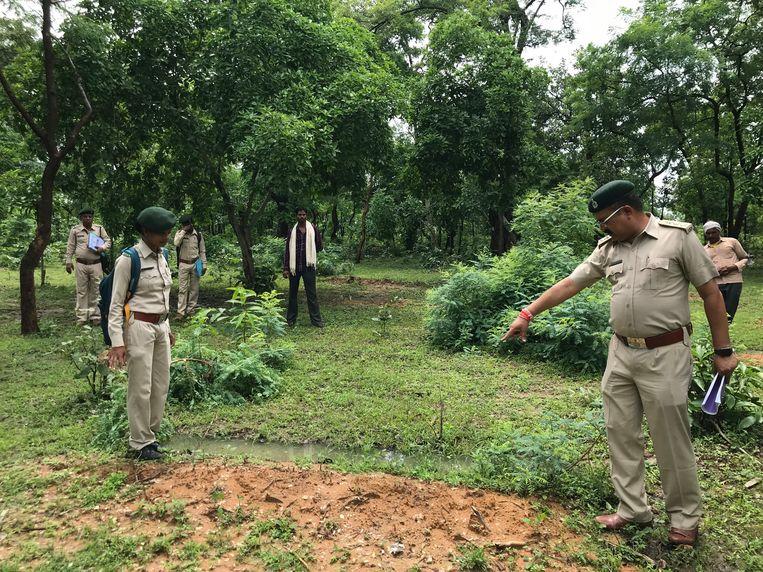 Boswachters in het district Mahasamund van de deelstaat Chhattisgarh, India.  Beeld Aletta André