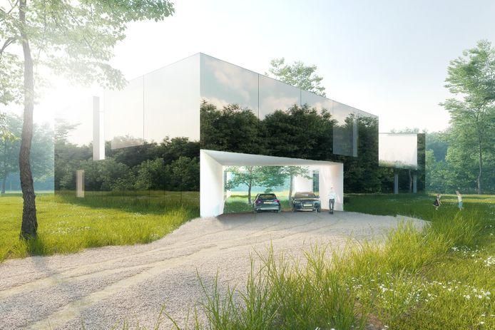 Outside-In, spiegelwoningen naar een ontwerp van FAAM Architects uit Eindhoven voor Bosrijk in Meerhoven.