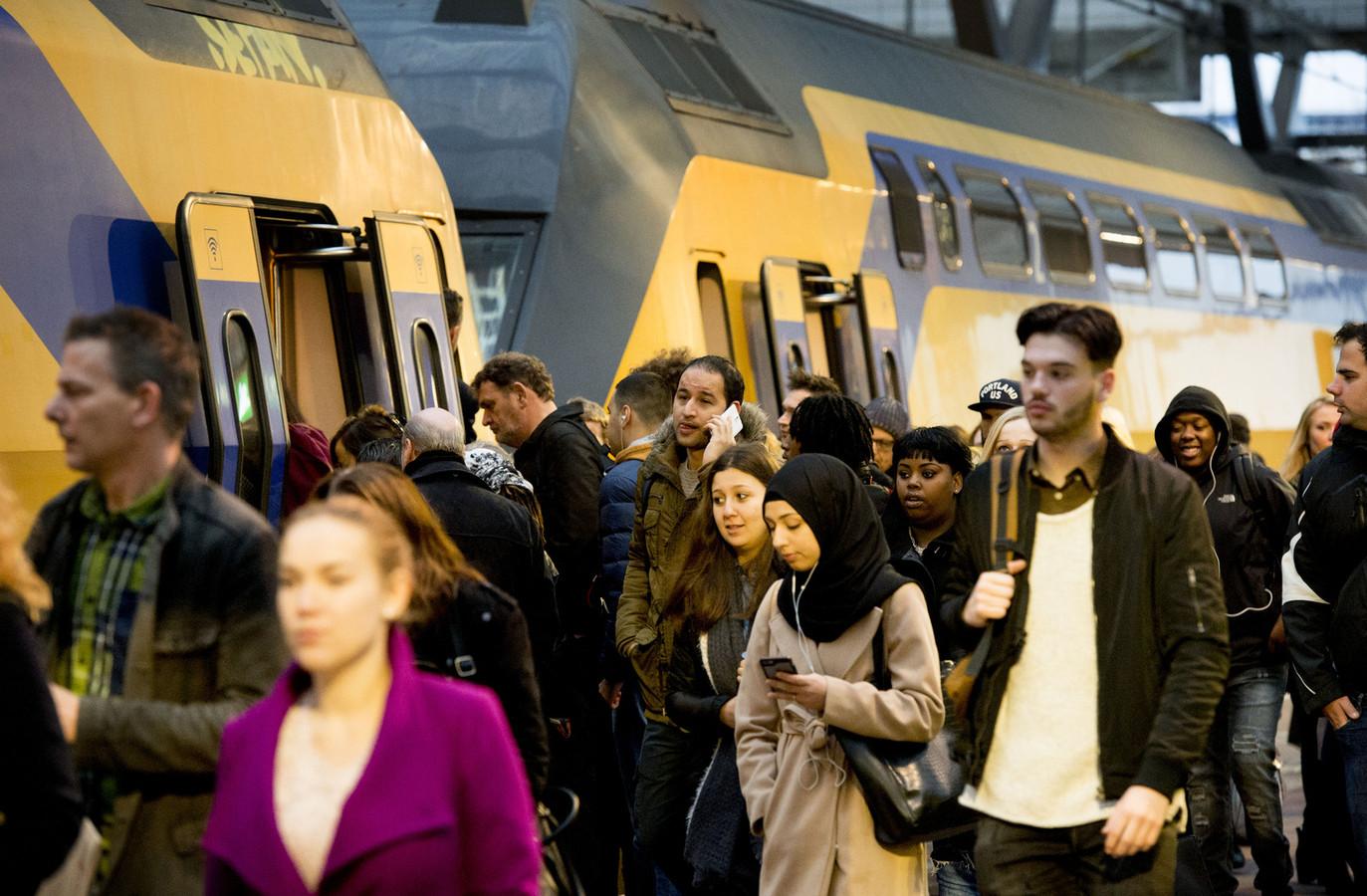 De spits op Rotterdam Centraal.