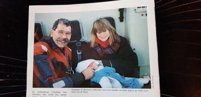 Hoogwater evacuatie Millingerwaard 1995 Michaëla Kaaij en Cyril Schouten