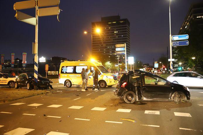 Ter illustratie. Ravage op de Prinses Beatrixlaan in Rijswijk na een aanrijding begin juni.