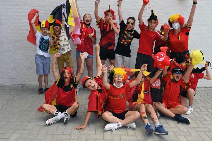 Als één team staan de leerlingen van De Boemerang achter ons nationaal elftal.